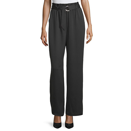 Byer California-Juniors Womens High Waisted Straight Pull-On Pants