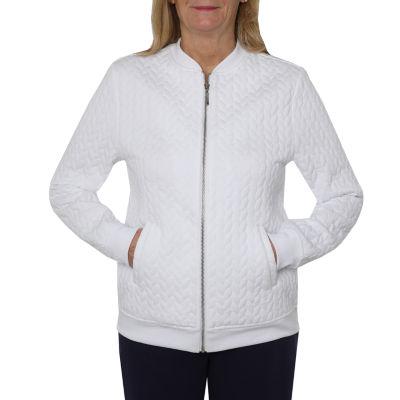 Cathy Daniels Weekend Brunch Knit Lightweight Track Jacket