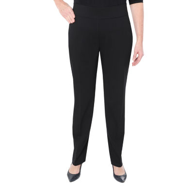 Cathy Daniels Womens Mid Rise Straight Pull-On Pants