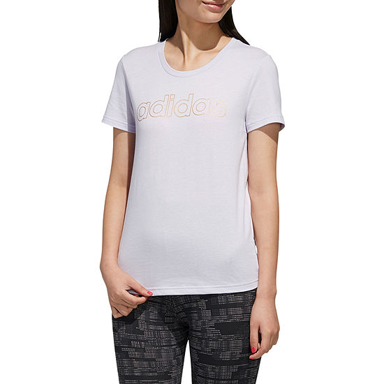adidas Womens Crew Neck Short Sleeve T-Shirt