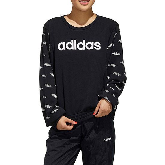 adidas Womens Crew Neck Long Sleeve Sweatshirt
