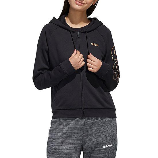 adidas Womens Hooded Neck Long Sleeve Sweatshirt