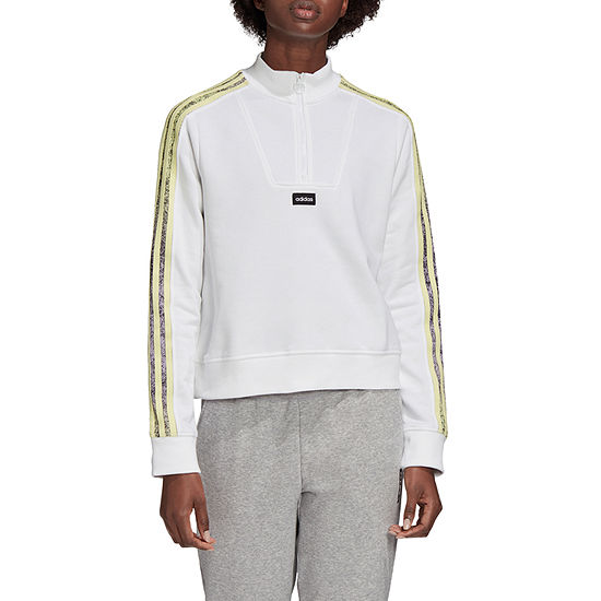 adidas Adidas Aaa Sweatshirt Womens Mock Neck Long Sleeve Sweatshirt