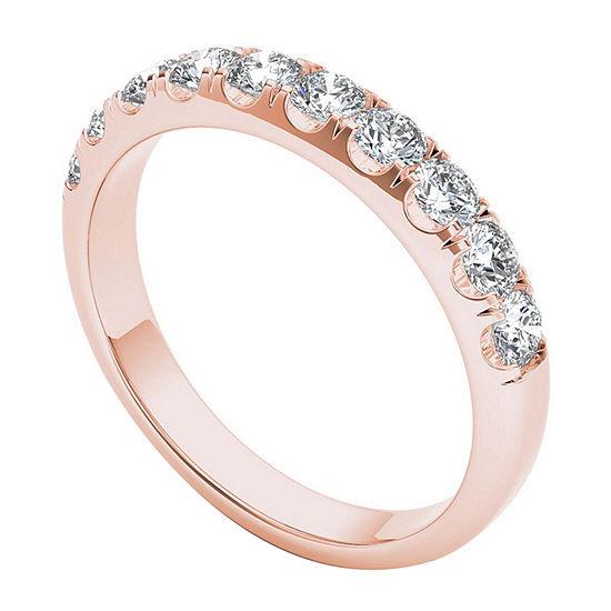 2.5MM 3/4 CT. T.W. Genuine White Diamond 14K Gold Wedding Band