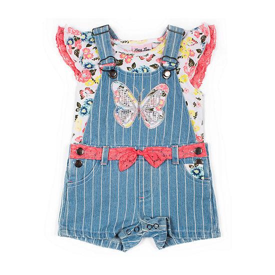 Little Lass Toddler Girls 2-pc. Shortall Set