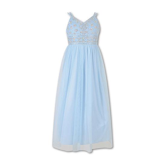 Speechless - Big Kid Girls Embellished Sleeveless Maxi Dress