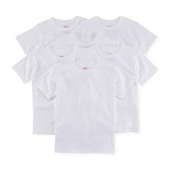 Hanes Boys Crew Neck Short Sleeve T-Shirt Big Kid