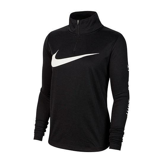 Nike Womens High Neck Long Sleeve Quarter-Zip Pullover
