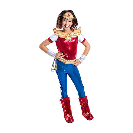 DC Superhero Girls Wonder Woman Deluxe Costume, Medium , Multiple Colors