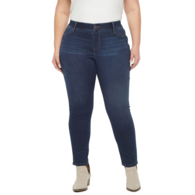 a.n.a - Plus Womens Mid Rise Skinny Stretch Jeggings