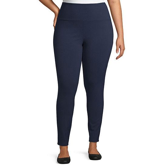 Liz Claiborne Secretly Slimming Pull On Leggings - Plus