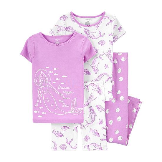 Carter's Little & Big Girls 4-pc. Pajama Set