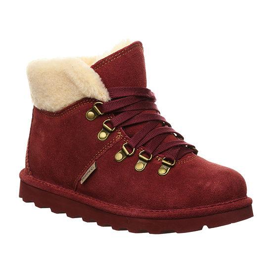Bearpaw Womens Marta Flat Heel Winter Boots