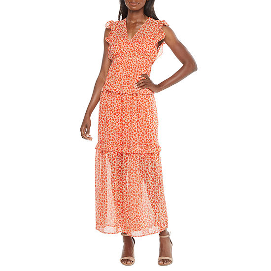 Emma And Michele Sleeveless Floral Maxi Dress