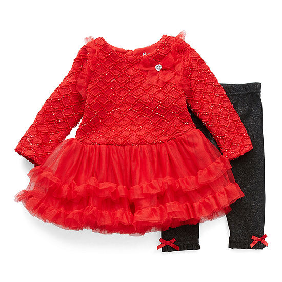 Nannette Baby Girls Long Sleeve 2-pc. Dress Set