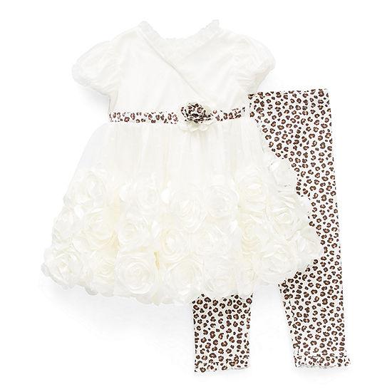 Nannette Baby Girls Short Sleeve 2-pc. Dress Set