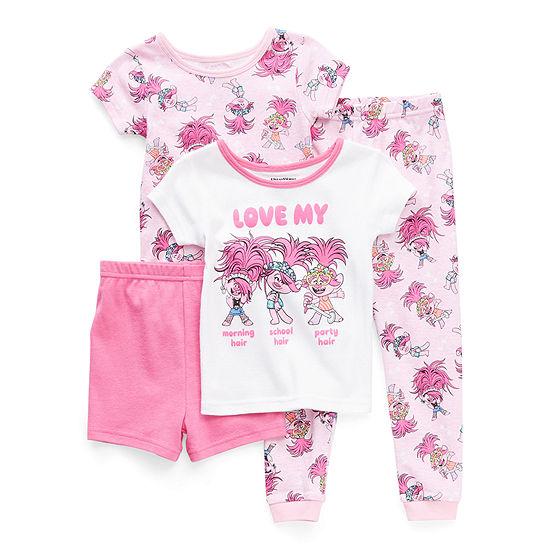 Toddler Girls 4-pc. Trolls Pajama Set
