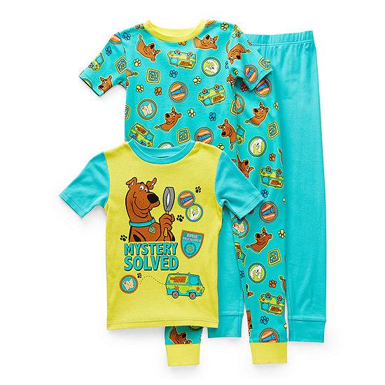 Little & Big Boys 4-pc. Scooby Doo Pajama Set