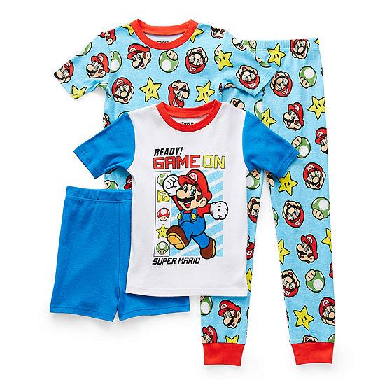 Little & Big Boys 4-pc. Super Mario Pajama Set