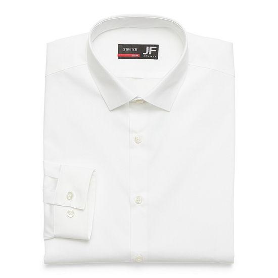 JF J.Ferrar Slim Mens Spread Collar Long Sleeve Stretch Dress Shirt