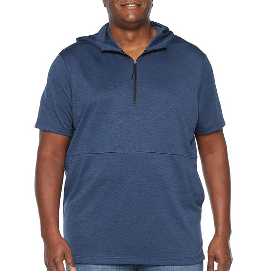 Msx By Michael Strahan Big and Tall Mens Short Sleeve Hoodie