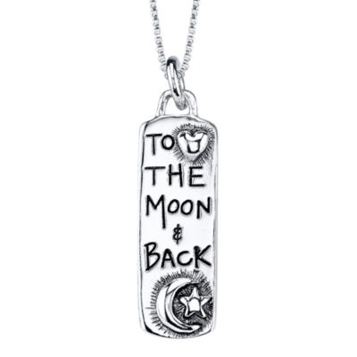 "Sterling Silver ""To the Moon & Back"" Pendant"
