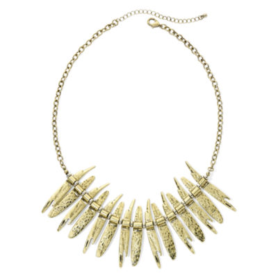 Mixit™ Gold-Tone Spike Statement Necklace