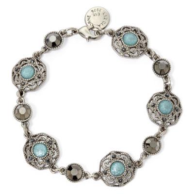 Liz Claiborne® Blue Stone Flex Bracelet
