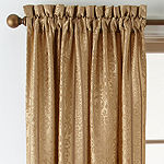 Home Expressions Brittany Light-Filtering Rod-Pocket Single Curtain Panel