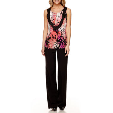 jcpenney.com | Worthington® Ruffle Front Blouse and Modern Fit Pants