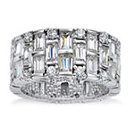 DiamonArt® 11M 5 CT. T.W. White Cubic Zirconia Platinum Over Silver Round Band