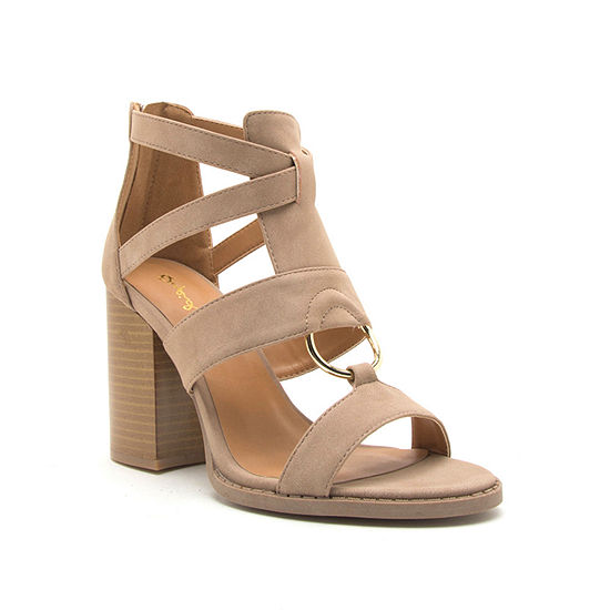 Qupid Womens Brammer 42 Heeled Sandals