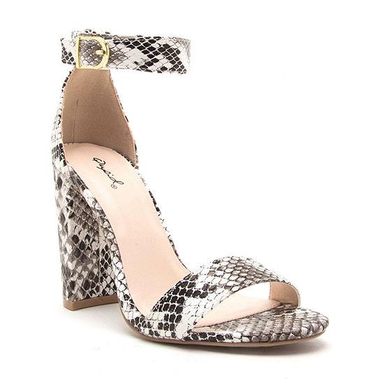 Qupid Womens Cashmere 61 Heeled Sandals