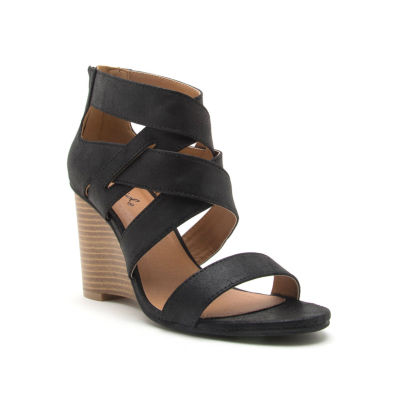 Qupid Womens Brody-11 Wedge Sandals