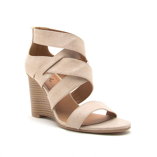 Qupid Womens Brody 11 Wedge Sandals