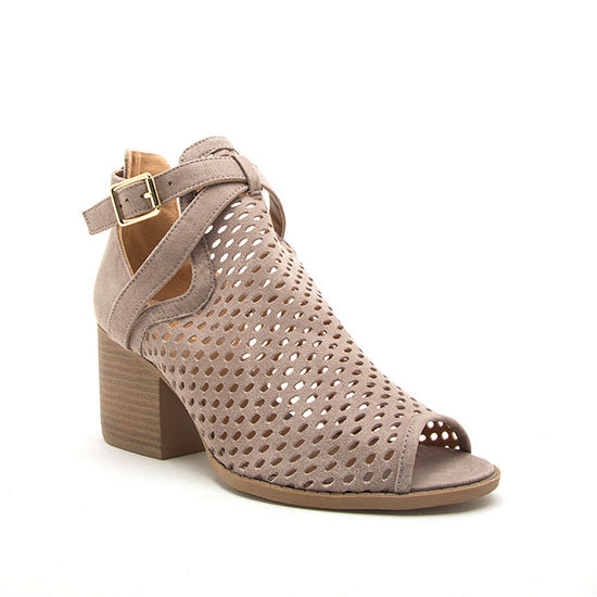 Qupid Womens Core-114x Heeled Sandals