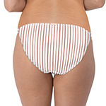 Wallflower Striped Hipster Swimsuit Bottom-Juniors