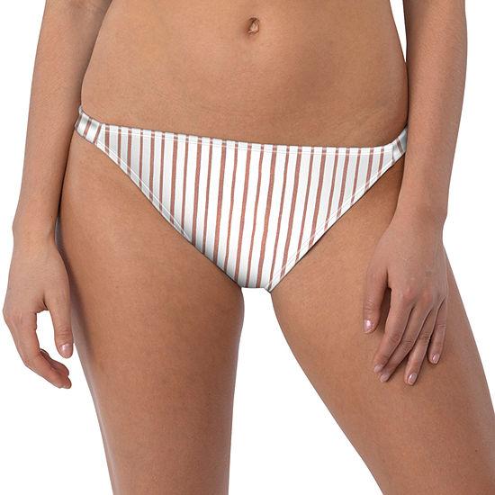 Wallflower Striped Hipster Swimsuit Bottom Juniors