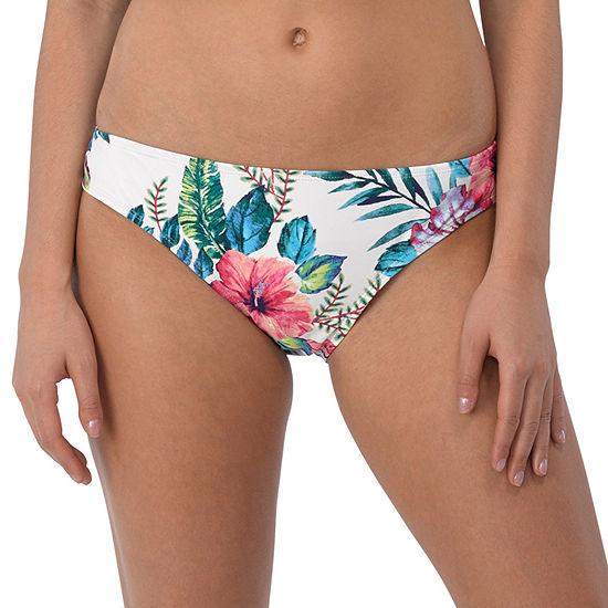 Wallflower Floral Hipster Swimsuit Bottom-Juniors