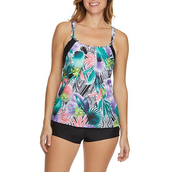 Splashletics Pattern Tankini Swimsuit Top Or Swimsuit Bottom