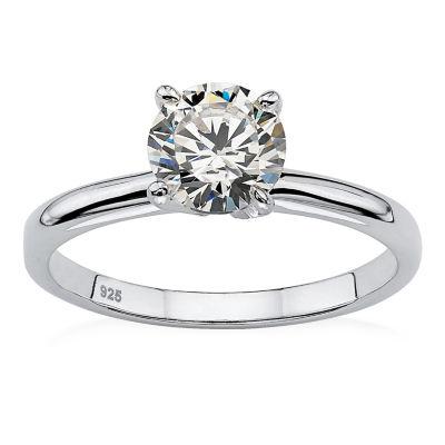Diamonart Womens 1 1/10 CT. T.W.  White Cubic Zirconia Round Engagement Ring