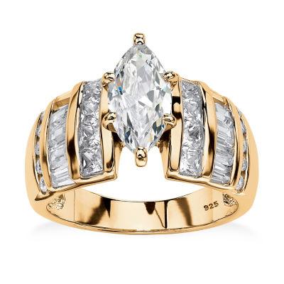 Diamonart Womens 3 3/4 CT. T.W. White Cubic Zirconia Engagement Ring