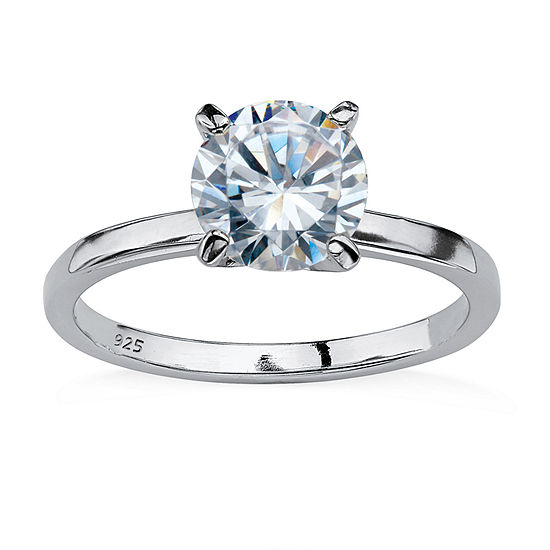 Diamonart Womens 2 CT. T.W. White Cubic Zirconia Round Engagement Ring