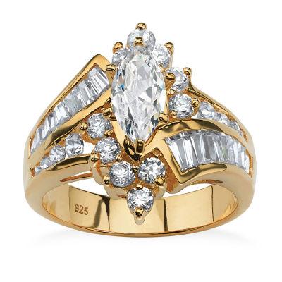 Diamonart Womens 3 1/4 CT. T.W. White Cubic Zirconia Engagement Ring