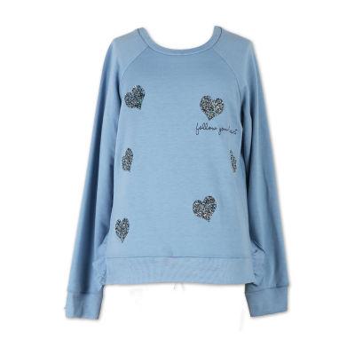 Speechless Round Neck Long Sleeve Sweatshirt - Big Kid Girls