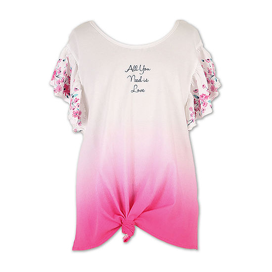 21714afdaf21fa Speechless Scoop Neck Short Sleeve Graphic T-Shirt-Big Kid Girls - JCPenney