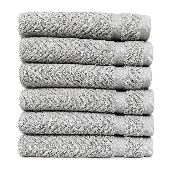 Linum Home Herringbone Washcloths (Set of 6)