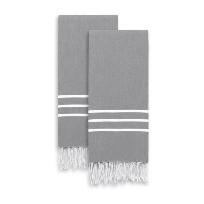 Linum Home Textiles Alara  Turkish Pestemal Hand/Guest Towels (Set of 2)
