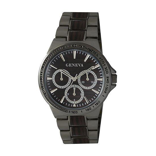 Geneva Mens Black Bracelet Watch-Jry8190gu