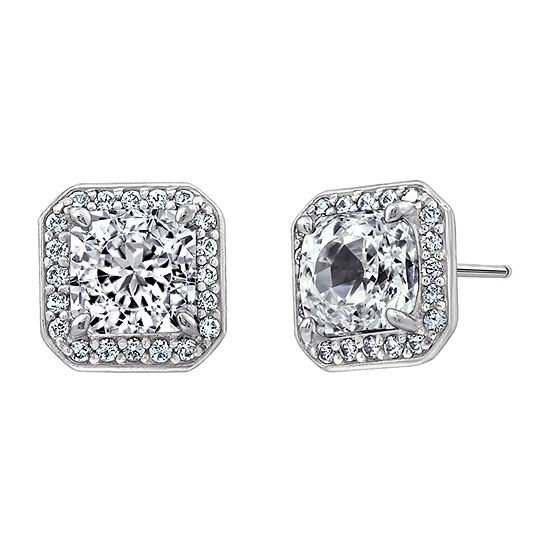 DiamonArt® 3 3/4 CT. T.W. White Cubic Zirconia Sterling Silver Stud Earrings